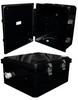 14x12x06 Polycarbonate Weatherproof Outdoor IP66 NEMA 4X Enclosure, Modified Base Black -- NBBPC141206-02 -Image