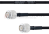 TNC Male to TNC Male MIL-DTL-17 Cable M17/84-RG223 Coax in 100 cm -- FMHR0056-100CM -Image