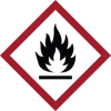 GHS Flammable Picto Label -- 121189 - Image