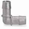 Barbed Elbow Connector, Stainless Steel, 1/2