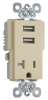 Combination Switch/Receptacle -- TR5361USB-I