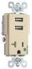 Combination Switch/Receptacle -- TR-8301USBI -- View Larger Image