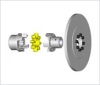 ROTEX® Torsionally Flexible Coupling with Disk for Braking Calipers -- SBAN