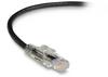 10FT Black CAT6 550MHz Ethernet Patch CBL UTP CM Locking Slimline -- C6PC80-BK-10 - Image