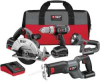 PORTER CABLE 4PC 18 V Cordless Lithium-Ion Combo Kit -- Model# PCL418C-2