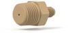 NPT Adapter Body PEEK 1/4 NPT Male x 1/4-28 Male -- U-501