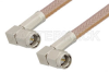 SMA Male Right Angle to SMA Male Right Angle Cable 24 Inch Length Using RG400 Coax -- PE3713-24 -- View Larger Image