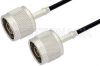 N Male to N Male Cable 12 Inch Length Using RG174 Coax -- PE36273-12 -Image