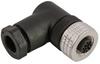 Single Key (M12) Micro-Link Field Attachable Connector, 4 pole, Female 90 deg, PG7 entry -- 304CFW7 - Image