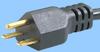North American NEMA 6-15 Cord Set w/ Angled C19 -- 86221235 -- View Larger Image