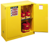 Sure-Grip EX Safety Cabinets for Flammables - 30 Gal., 2 door, manual close, 1 shelf > SIZE - 44