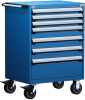 Heavy-Duty Mobile Cabinet, with Partitions -- R5BDD-3803 -Image