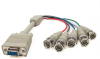 1ft HD15 VGA Female to 5 BNC Male Cable -- RB40-01 - Image