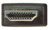 High Speed HDMI® Cable with Ethernet, Male/ Male, Black Overmold 0.5 M -- HDCABK-0.5 -Image