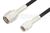 SMA Male to SSMA Male Cable 18 Inch Length Using RG174 Coax, RoHS -- PE35430LF-18 -Image