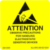 "Label, Yellow/Black 2"" x 2"" ""Attention Observe Precautions"" -- 306-2020 -- View Larger Image"