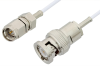 SMA Male to BNC Male Cable 12 Inch Length Using RG196 Coax -- PE33523-12 -Image