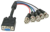 0.75ft DB15HD-Female to 5BNC-Male Cable Black -- RB40-01-BLK - Image