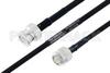 MIL-DTL-17 BNC Male to TNC Male Cable 100 cm Length Using M17/84-RG223 Coax -- PE3M0035-100CM -Image