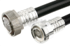 7/16 DIN Male to 7/16 DIN Female Cable 36 Inch Length Using 1/2 inch Helical Coax, RoHS -- PE37972-36 -Image