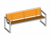 Strada Bench, Pagwood, Fixed -- 5315099