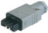 Rectangular Field Attachable Power Connector (ST Series): Female, straight with strain relief , 4-pin+PE, grey housing, 400 V AC/230 V DC, 10 A -- STAK 4 grey - Image