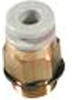 Fitting, Pneumatic; male connector, Uni1/8 inch port, for 6mm tubing -- 70071175