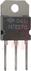 TRANSISTOR NPN SILICON DARLINGTON 100V IC=10A TO-3P CASE COMPLEMENT TO NTE271 -- 70215887