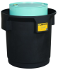 Justrite Black Ecopolyblend 66 gal Spill Containment Drum - 31 3/4 in Height - 697841-13461 -- 697841-13461