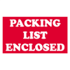 "3"" x 5"" - ""Packing List Enclosed"" Labels -- SCL538"
