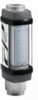 Graph-style aluminum flowmeter w/ gauge, 1