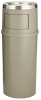 Beige Rubbermaid® Ash/Trash Classic Container with Doors -- 6772