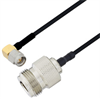 N Female to SMA Male Right Angle Cable Assembly using LC085TBJ Coax, 5 FT -- LCCA30611-FT5 -Image