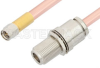 SMA Male to N Female Bulkhead Cable 12 Inch Length Using RG401 Coax -- PE34157-12 -- View Larger Image