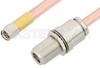 SMA Male to N Female Bulkhead Cable 12 Inch Length Using RG401 Coax -- PE34157-12 -Image