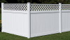 Vinyl Fence - Privacy -- Brookhaven with Lattice Accent