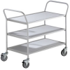CLEARANCE - EUROKRAFT® Dual-Handle Steel Utility Carts -- 5504600