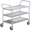 CLEARANCE - EUROKRAFT® Dual-Handle Steel Utility Carts -- 5504600