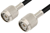 TNC Male to TNC Male Cable 48 Inch Length Using 75 Ohm RG59 Coax, RoHS -- PE3402LF-48 -Image