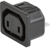 IEC Appliance Outlet H, Snap-in Mounting, Front Side, Solder or Quick-connect Terminal