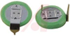 Battery, Lithium, Coin Cell, 3V, 48 mAh, with Tabs -- 70196822 - Image