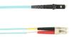 1-m, LC-MTRJ, 50-Micron, Multimode, Plenum, Aqua Fiber Optic Cable -- FOCMP50-001M-LCMT-AQ - Image