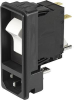 IEC Appliance Inlet C14 or C18 with recessed Circuit Breaker TA45 -- DF11 -Image
