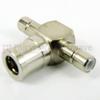 SMB T Adapter Jack-Plug-Jack, Nickel Plated Brass Body, 1.3 VSWR -- SM2010 - Image
