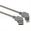 45 Degree USB Cable, 45 Degree Left Angled A Male / 45 Degree Left Angled B Male, 3.0 m -- CA45LA-45LB-3M