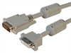 Premium Panel Mount DVI-D Dual Link Male/Female Cable Assembly 1ft -- MDA00048-1F -Image