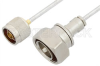 N Male to 7/16 DIN Male Cable 60 Inch Length Using PE-SR402FL Coax -- PE35965-60 -Image