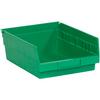 "11 5/8"" x 11 1/8"" x 4"" Green - Plastic Shelf Bin Boxes -- BINPS105G -- View Larger Image"