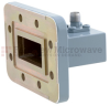 WR-112 to SMA Female Waveguide to Coax Adapter CPR-112G Grooved with 7.05 GHz to 10 GHz H Band in Aluminum, Paint -- FMWCA1044 - Image