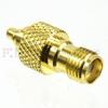MMCX Plug (plug) to SMA Female (Jack) Adapter, Gold Plated Brass Body, High Temp, 1.22 VSWR -- SM4783 - Image